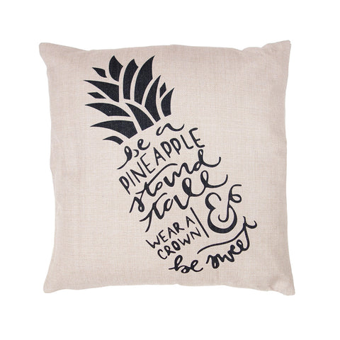 Pineapple Script Cushion