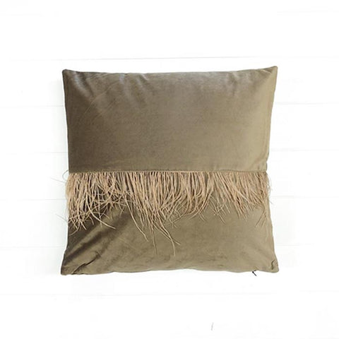 Velvet Fringe Coffee Cushion