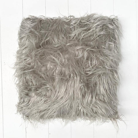 Fur Silver Cushion