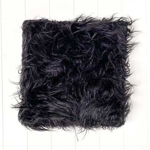 Fur Black Cushion