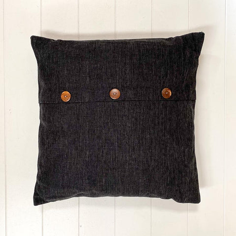 Button Cushion Black