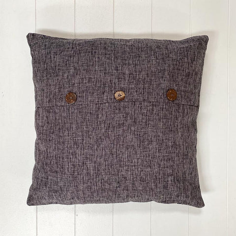 Charcoal Button Cushion