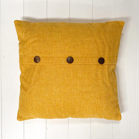 Yellow Button Cushion