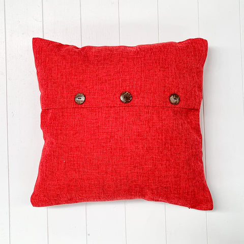 Raspberry Button Cushion