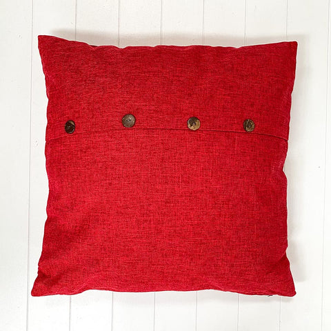Raspberry Button Cushion Large