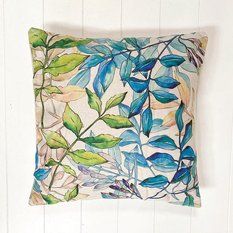 Oil Print Leaf Cushion