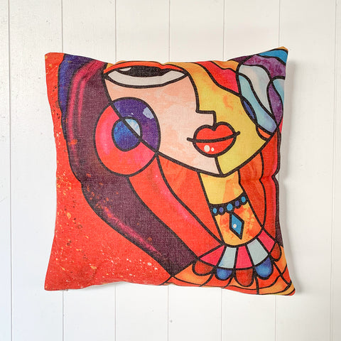 Abstract Lady Cushion