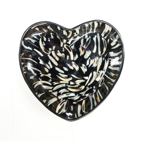 Black Shell Heart Bowl
