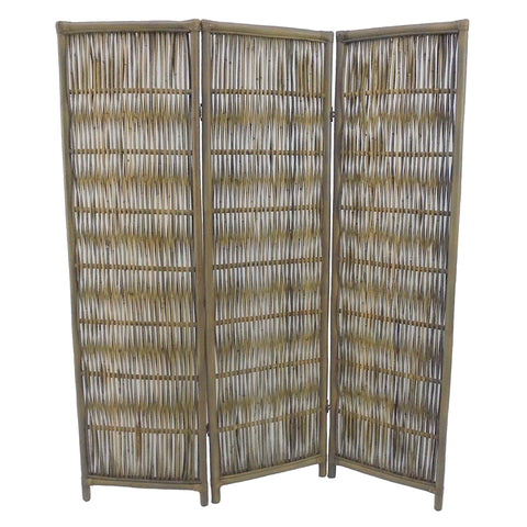 Rattan Screen Grey
