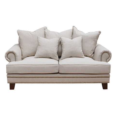Oxford Fabric 2 Seater Sofa Sand
