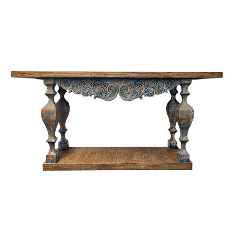 Oriental Console Carved