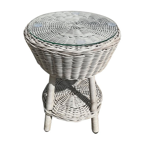 Corfu Outdoor Side Table Grey White