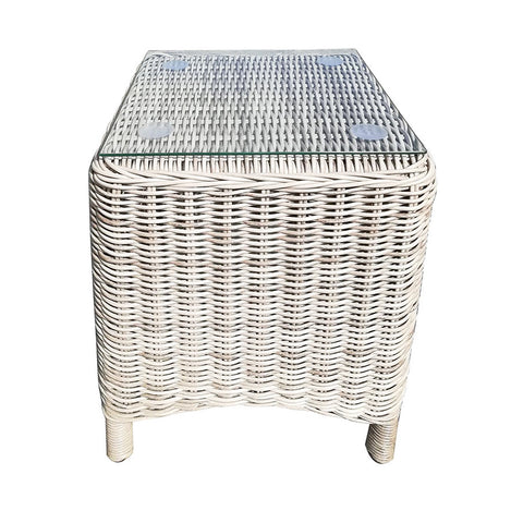Paros Outdoor Side Table Grey White