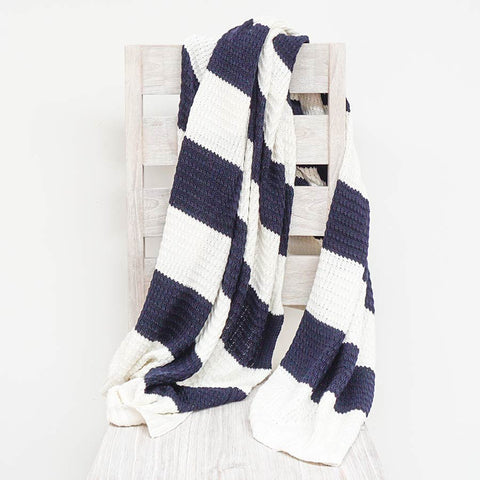 navy-stripe-cotton-throw
