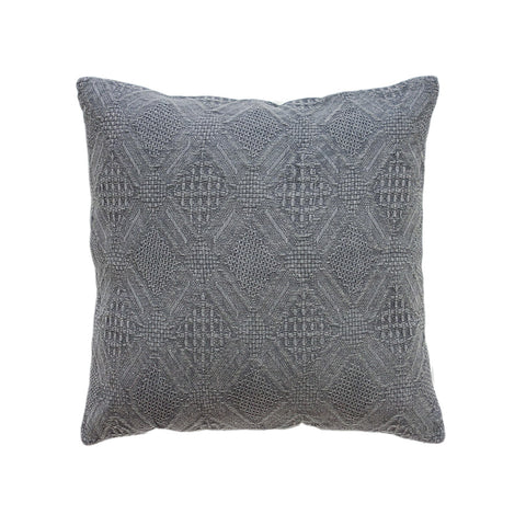 Washed Pattern Cushion Charcoal