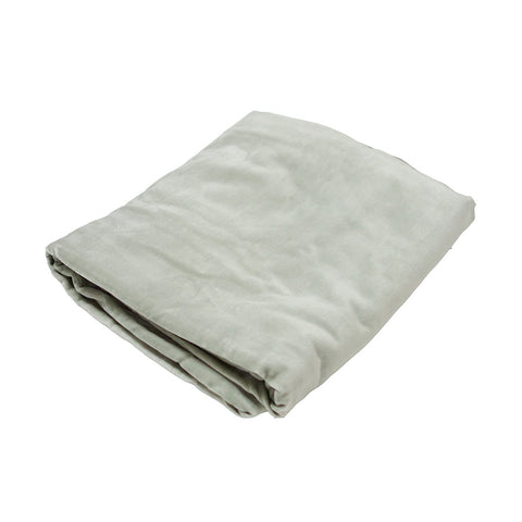 Small Velvet Bedspread Throw Duck Egg
