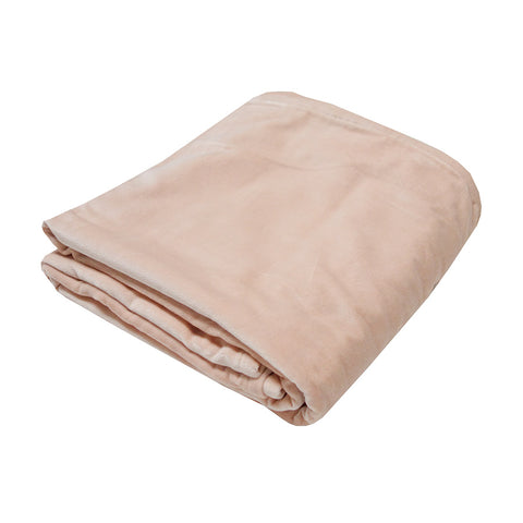Small Velvet Bedspread Throw Blush