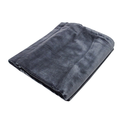 Small Velvet Bedspread Throw Pewter