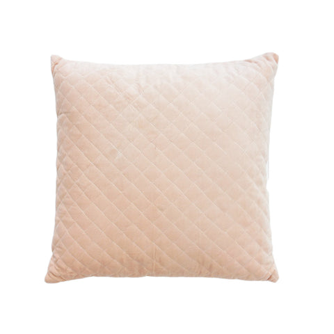 Velvet Cross Blush Cushion