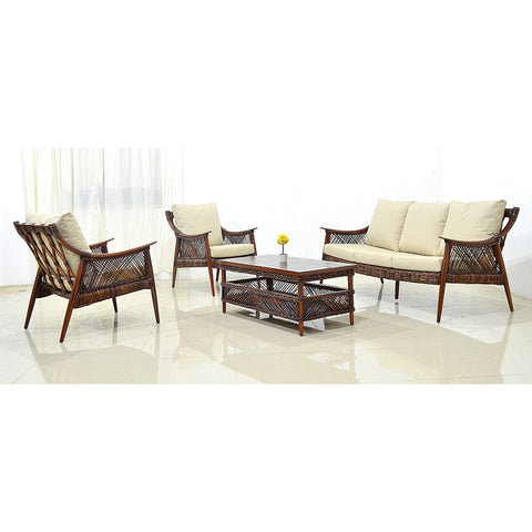 Colonial Rattan Coffee Table