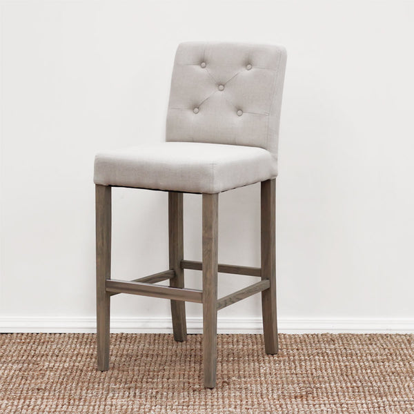 The Importer Preston Fabric Barstool Light Beige
