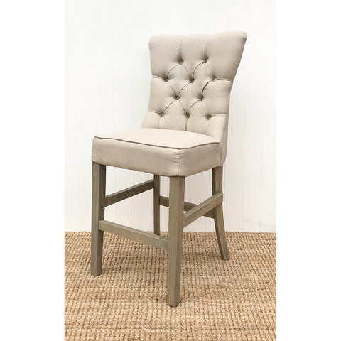 Ellie Fabric Barstool Light Beige