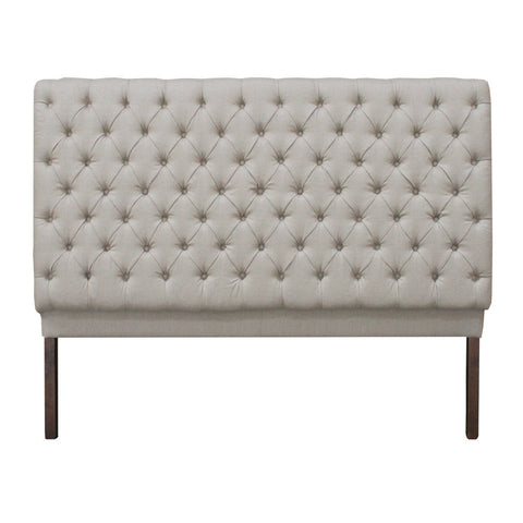 lauren fabric headboard light beige