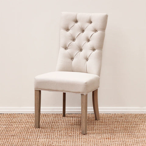 Ellie Beige Fabric Dining Chair