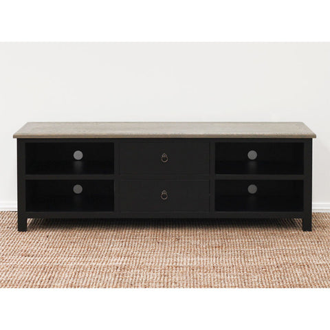 chateau oak entertainment unit black