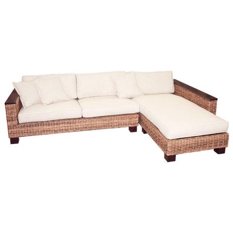 natural abaca sofa chaise