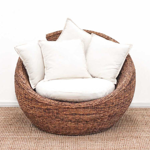 Peanut Chair Natural Abaca