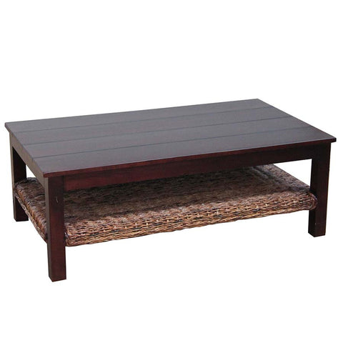 coffee table wood top abaca