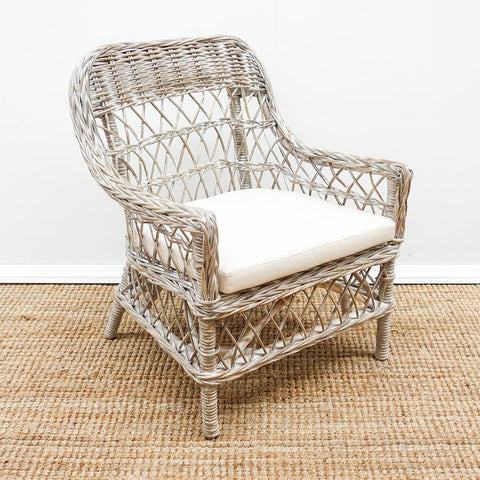 Rattan Armchair Whitewash