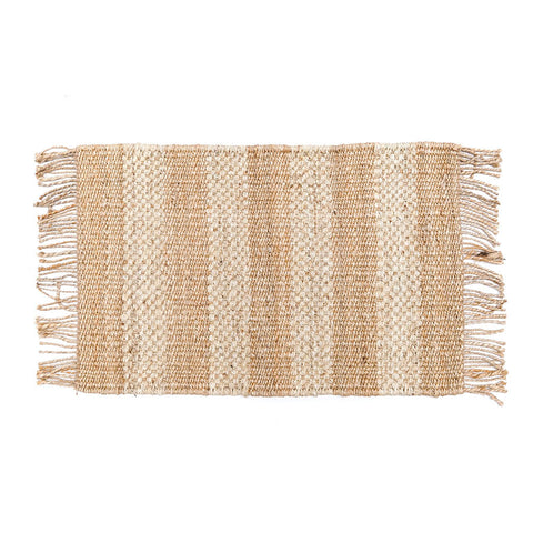 Striped Handwoven Jute Rug