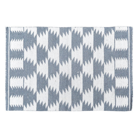 Aztec Grey Handwoven Wool Rug