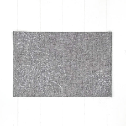 Monstera Placemat Grey
