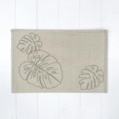 Monstera Placemat Light