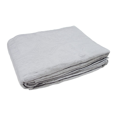Stitched Bedspread Set Grey