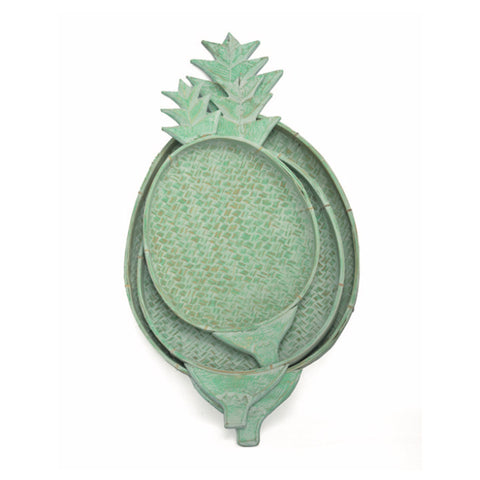 Pineapple Bamboo Tray 3 sizes