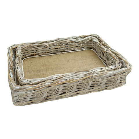Rectangle Tray Kubu Whitewash Large