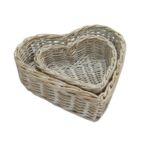 Heart Tray Kubu Whitewash Large