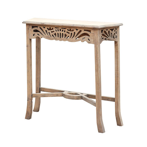 rustic art deco hall table original