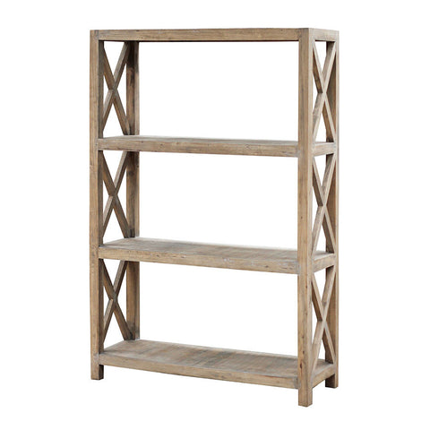 rustic bookcase 4 shelves original
