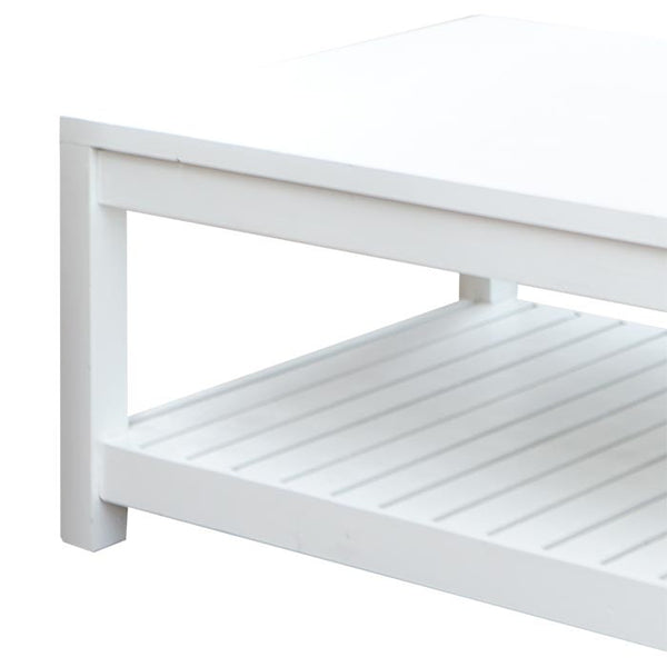 The Importer Rustic Coffee Table Whitewash