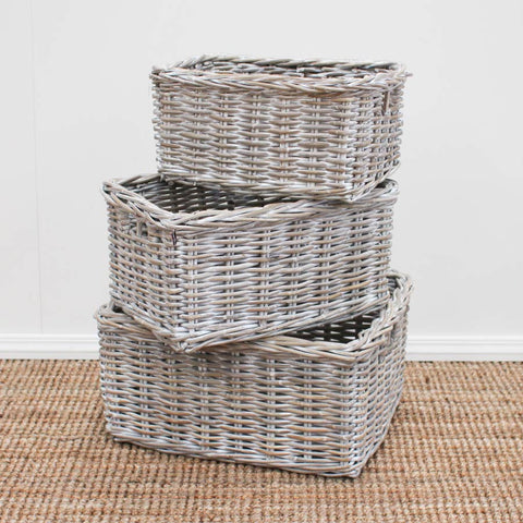 whitewash storage basket 3 sizes