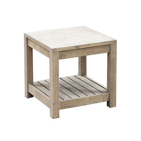 rustic side table original