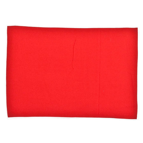 electric red white tablemat