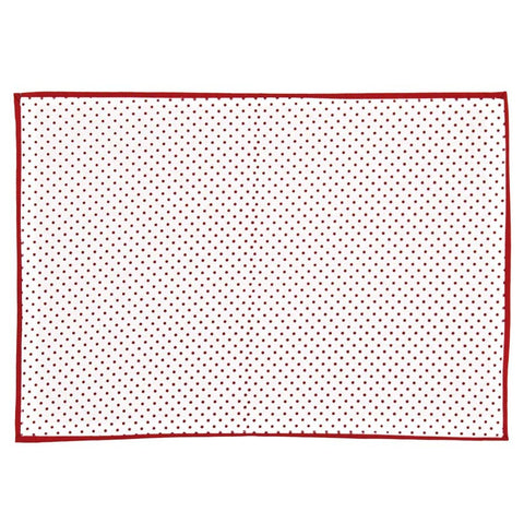 red white spot tablemat