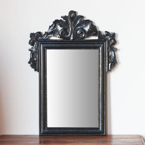 black carved mirror small