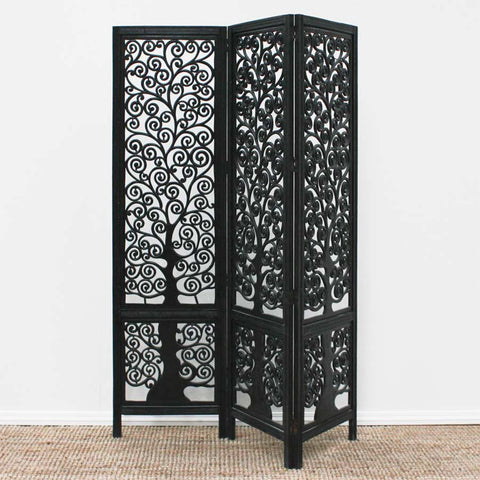 tree of life screen antique black